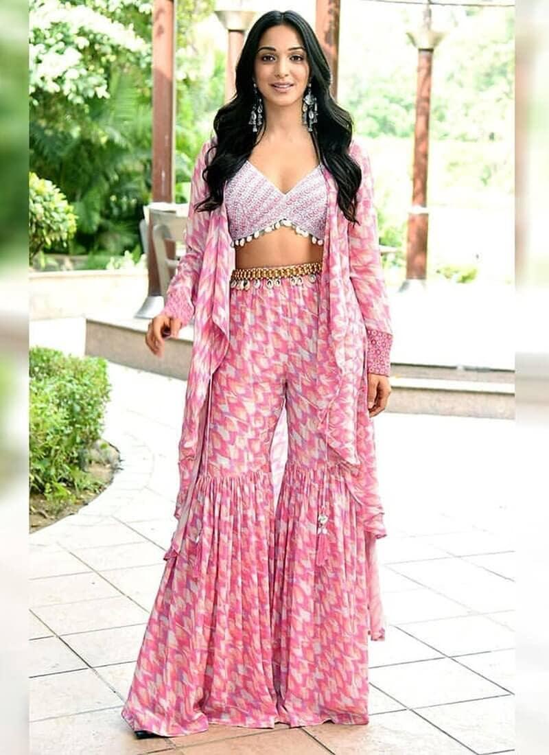 Indo-Western Stylish Sharara Suit