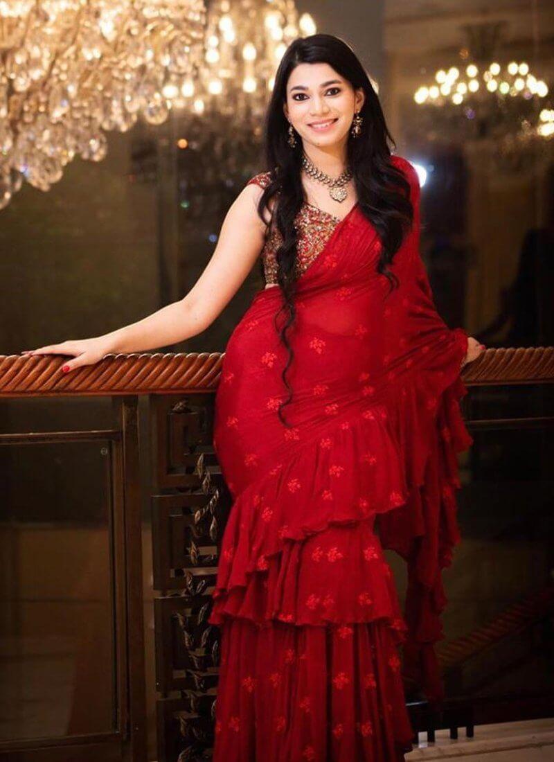 saree with pallu