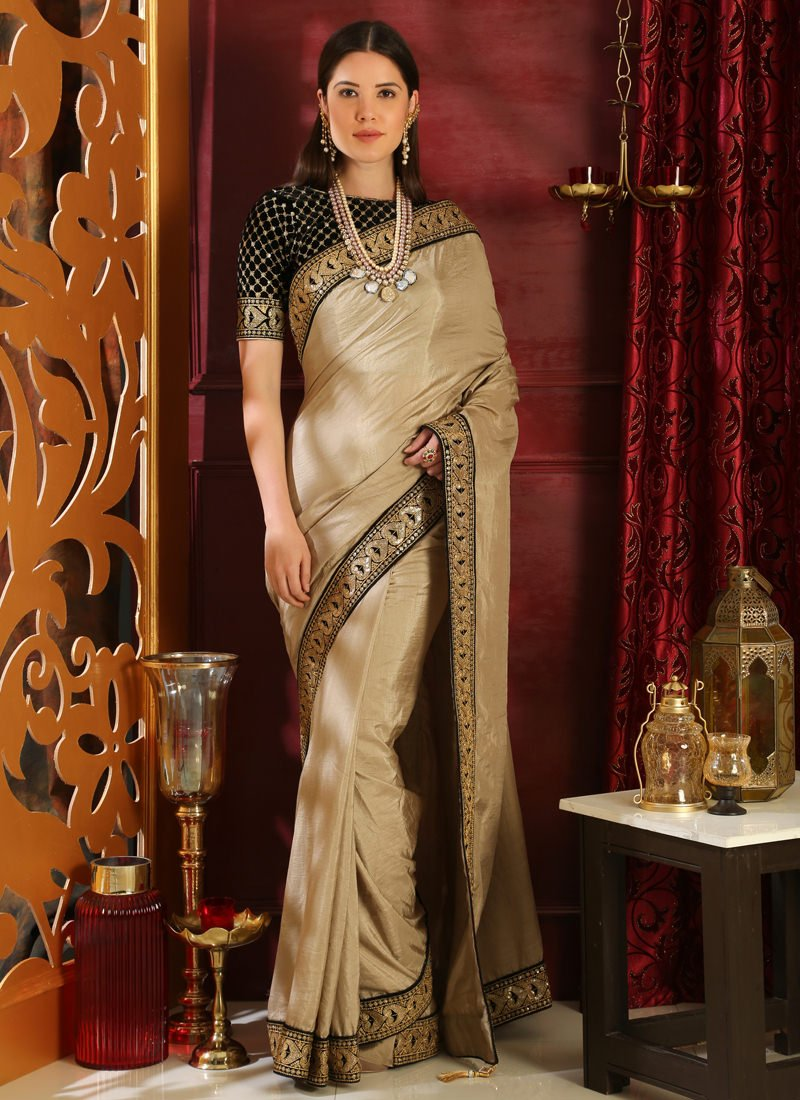 silk saree styling