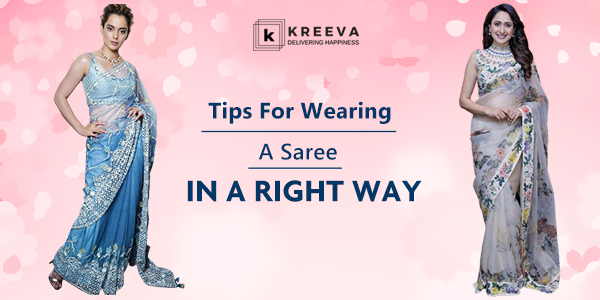 wearing saree in right way