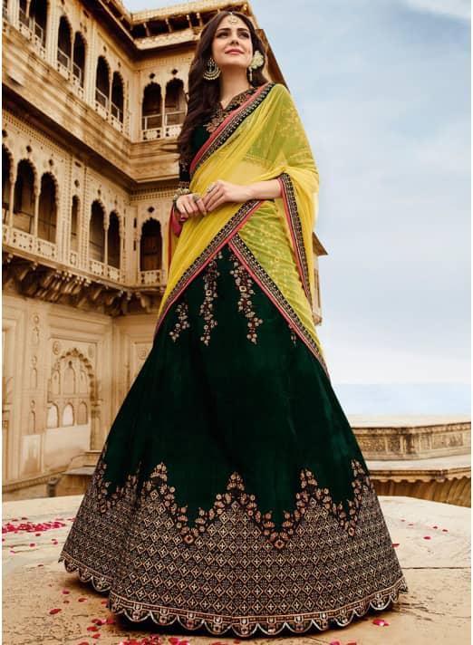 Lehenga Style Stylish Saree