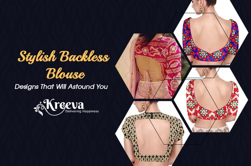 Stylish Backless Blouse Designs