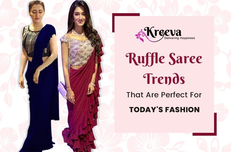 Ruffle Saree Trends