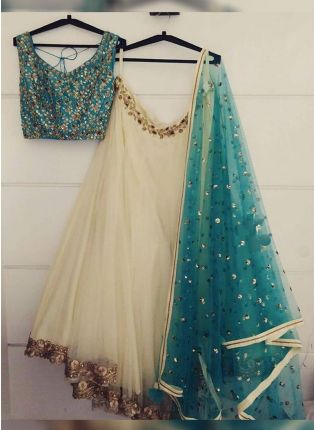Trendy White Color Wedding Wear Designer Lehenga Choli