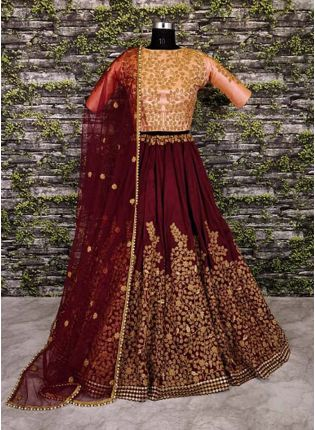A-Line Embroidered Lehenga Choli Set