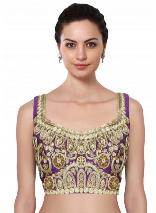 Purple Ornamental Jaal Pattern Blouse