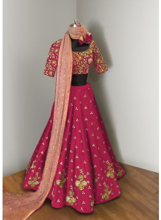 Pink Elegance Lehenga Choli With Light Pink Net Dupatta