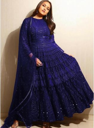 Gorgeous Royal Blue Designer Ethnic Wear