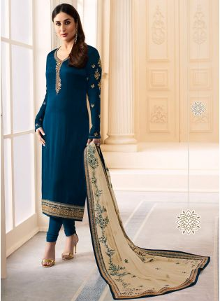 Dark Blue Color Designer Salwar Kameez