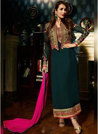 Dark Green Color Designer Salwar Kameez Suit