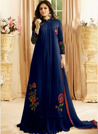 Royal Blue Color Designer Patry Wear Salwar Kameez Suit