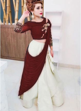 Maroon Color Heavy Look Designer Lehenga Choli