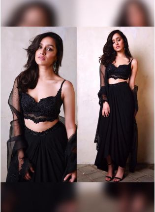 Black Color Designer Party Wear Lehenga Choli