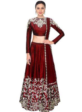 Stylish Maroon Color Party Wear Designer Lehenga Choli