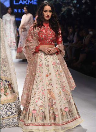 White Color Designer Wedding Wear Lehenga Choli