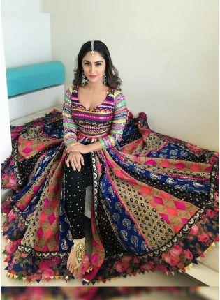 Multi Color Party Wear Banglori Silk Base Digital Printed Salwar Suit
