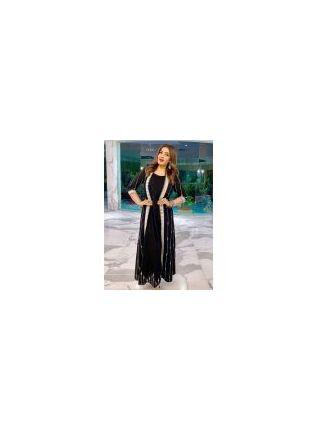 Black Color Party Wear Georgette Base Anarkali Suit With Shrug