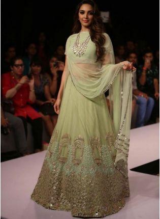Pista Green Color Designer Wedding Wear Lehenga Choli