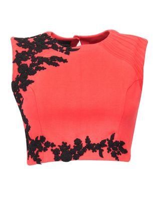 Pink Designer Embroidered Stitched Blouse