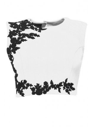 White Designer Embroidered Stitched Blouse