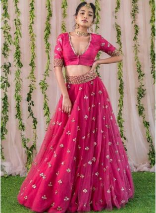 Weadding Wear Soft Net Base Designer Lehenga Choli