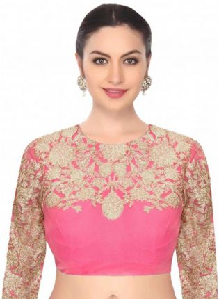 Back Less Pink Dori Work Blouse