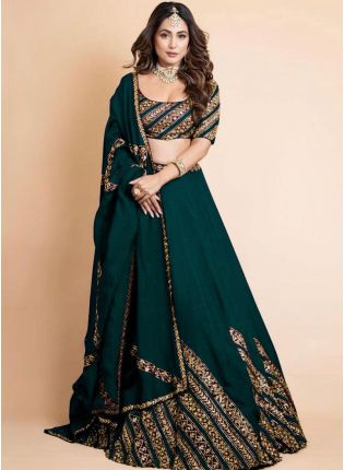 Exquisite Green Color Georgette Base Bollywood Lehenga Choli