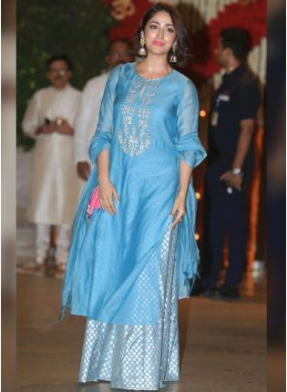 Bollywood Style Blue Color Palazzo Salwar Suit