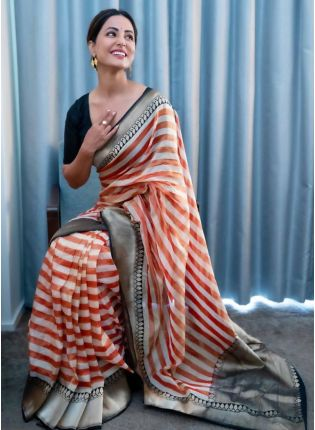 Shine Up With This Designer Georgette Base Party Wear Saree