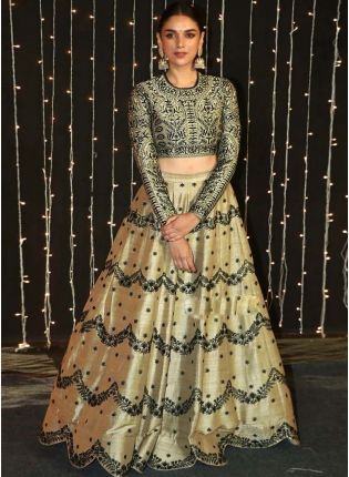 Beige Color Degital Printed Designer Party Wear Lehenga Choli