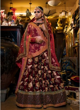 Maroon Colour Designer Heavy Embroidered Lehenga Choli