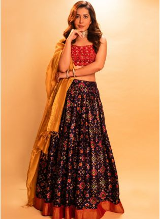 Multi Color Digital Print  Casual Bollywood Flared Lehenga Choli